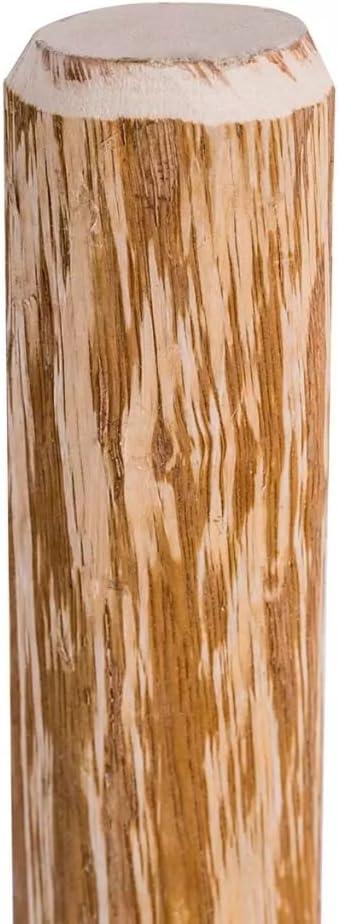 Nat/ürliche Holzfarbe vidaXL 43145 4X Angespitzter Zaunpfosten Haselnussholz 120 cm Zaunpf/ähle Holzpfosten
