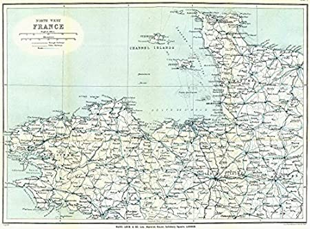 Map Of North West France.North West France Normandy Brittany Channel Islands Ward Lock