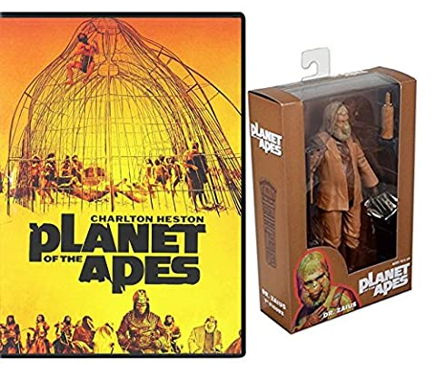Planet of the Apes Classic Movie DVD + Dr. Zaius Action Figure 2-Pack 1968 Original Film (Planet Of Apes 2 Pack)