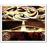 J.P. London POSLT2111 uStrip Lite Removable Wall Decal Sticker Mural Tribal Hot Wheels Street Racing Tattoo, 24-Inch X 19.75-Inch