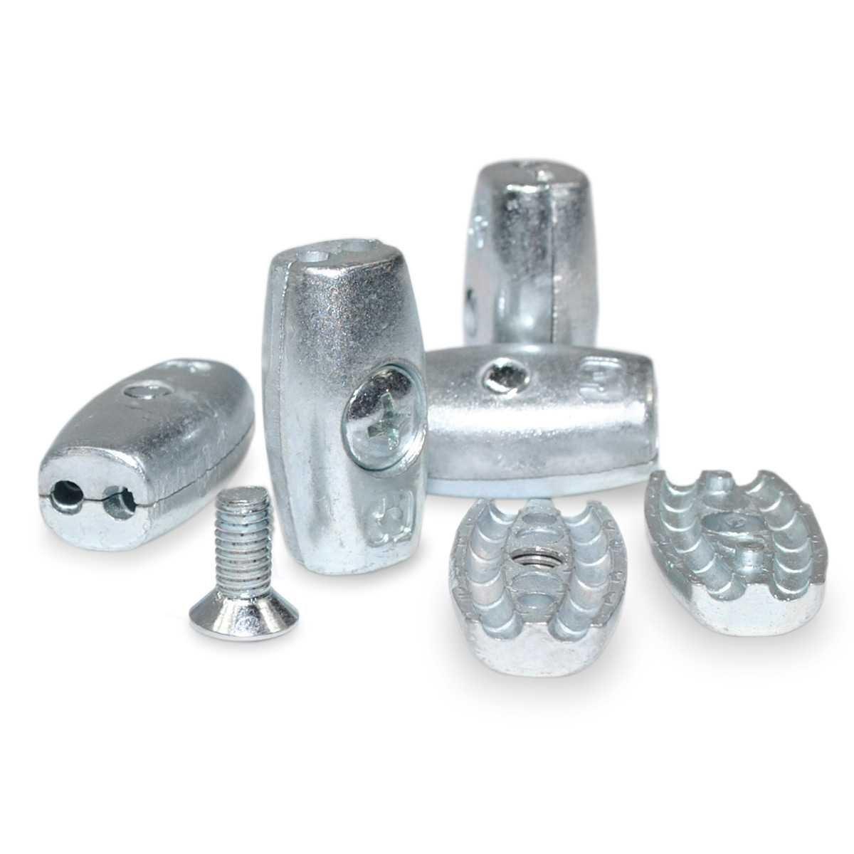 Seilwerk STANKE 100 x Drahtseilklemme Eiform Gr/ö/ße 5 f/ür 5 mm Drahtseile Aluminium Silumin Stahlseil Klemme