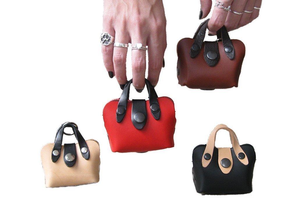 Porta Sacchetti per Cani in Pelle a Forma di Borsa da Donna - Disponibile in 4 colori - Realizzati a mano in Italia