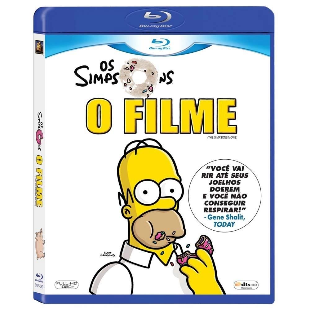 Amazon Com Blu Ray Os Simpsons O Filme Brazilian Edition The Simpsons Movie Audio And Subtitles In English Portuguese Spanish Bart Simpsons Marge Simpsons Lisa Simpsons