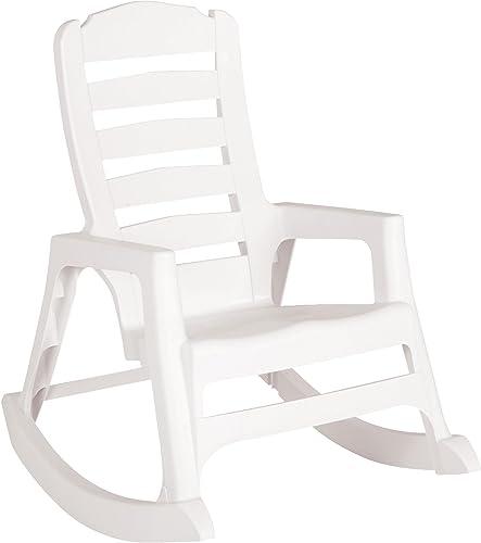 ADAMS MFG PATIO FURN 8080-48-3700 Big Easy Rocking Chairs, White