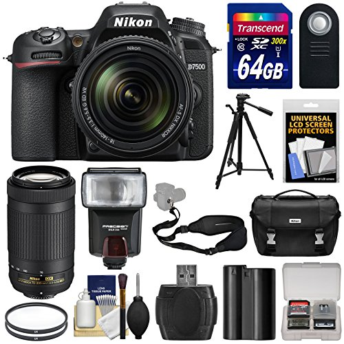 nikon-d7500-wi-fi-4k-digital-slr-camera-with-18-140mm-vr-70-300mm-dx-af-p-lens-64gb-card-battery-cas