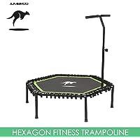 "Jumbroo 53""/135cm Sports Fitness Trampoline with Adjustable Handle Bar Gym Training Use"