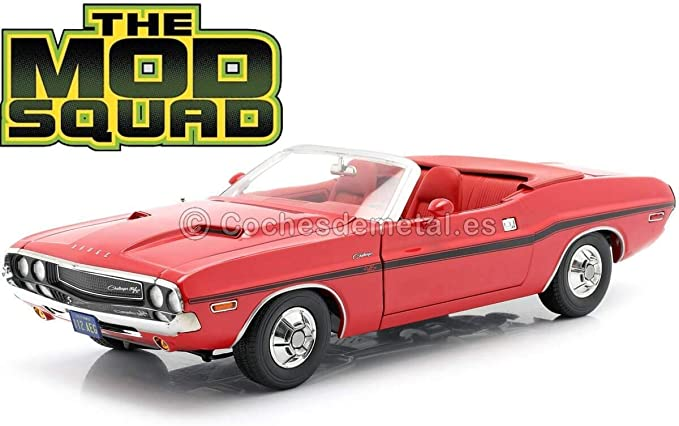 1//18 GREENLIGHT THE MOD SQUAD 1971 DODGE CHALLENGER 340 GOLD CONVERTABLE #13566