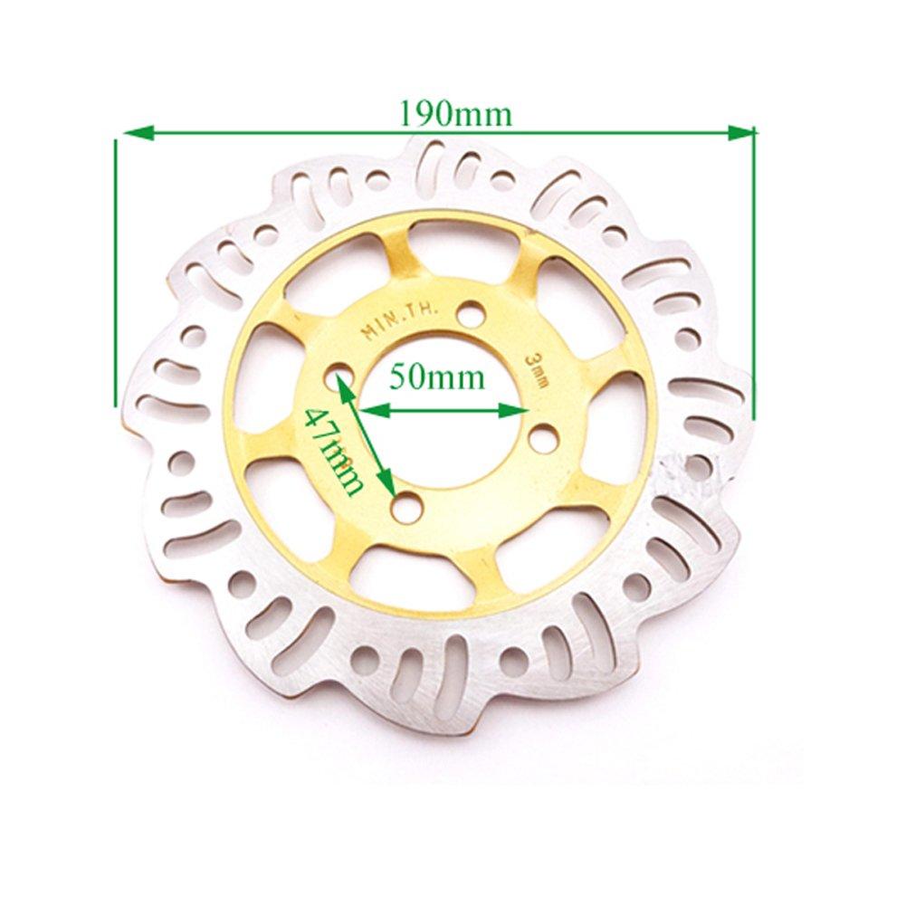 Stoneder 190/mm pinza freno a disco rotore disco per cinese Pit sporcizia motore Trail moto bici Motocorss