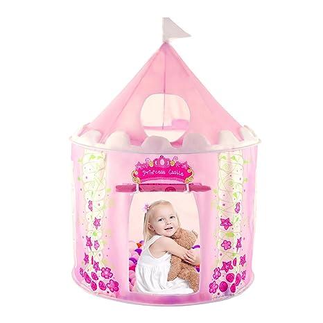Amazoncom Anyshock Kids Tent Princess Castle Play Tent Girls Pop