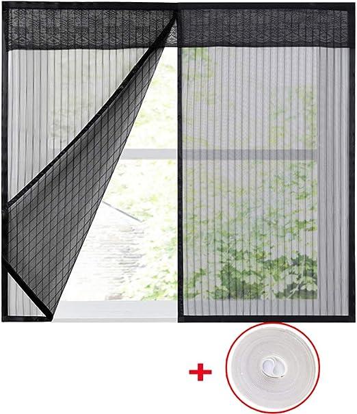 39x47inch Moustiquaire maille /écran protecteur Moustiquaire de fen/être filet Mont/és sur plusieurs fen/êtres-noir 100x120cm WYMNAME Rideau en fen/être /écran mesh