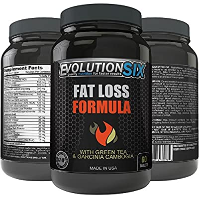 Wieght Loss Pills Fat Burner With Green Tea and Garcinia Cambogia, Evolution SIX Fat Loss Formula, Weight Loss, Fat Loss Accelerator Supplement Tablets