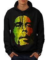 Wellcoda Marley Bob Peace Rasta Men S-5XL Hoodie