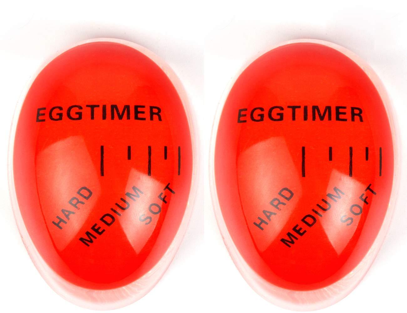 2 Pack Colour Changing Egg Timer, Bidear Heat Sensitive Egg Timer in Boil Water for Kitchen