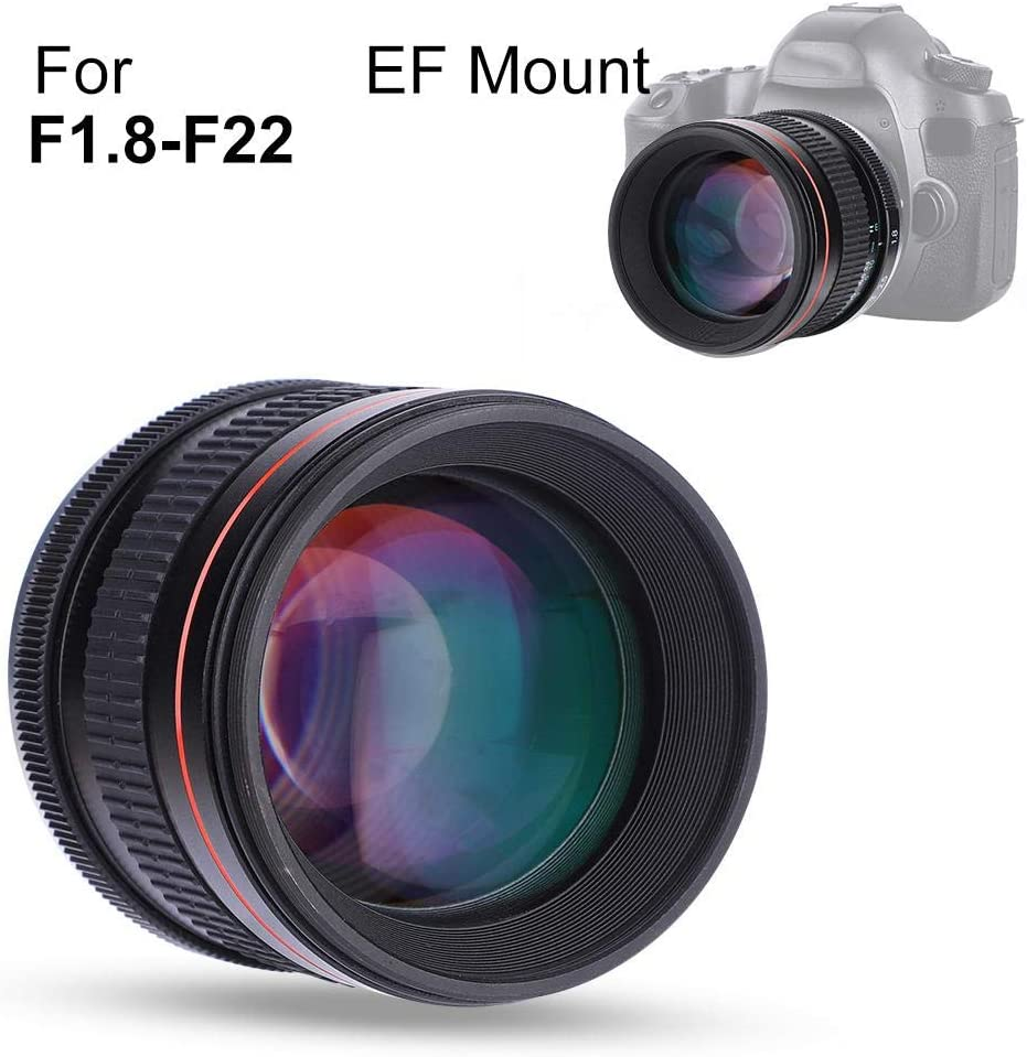 EF Mount 85mm F1.8 Prime Lens Full Frame Manual Focus Medium Telephoto Lens Large Aperture Prime Lens for DSLR Cameras