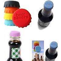 naisicatar tapones de vino silicona tapón de botella redondo cápsulas de cerveza Beer - Carcasa de silicona reutilizables tapa de tapón de botella de vino para Garder le