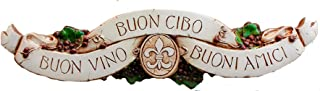 product image for Piazza Pisano Italian Wall Decor Door Topper Good Wine Good Food Good Friends