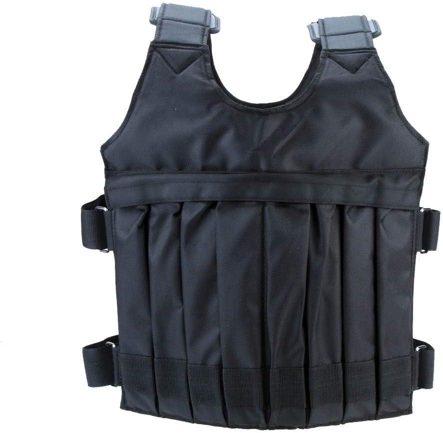 Yangyme Zone de Correction Max Charge 20kg Poids Poids Réglable Veste Veste d'exercice Boxe Formation Gilet Invisible Poids Charge Sable Vêtements