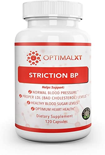 Healthy Habits OptimalXT StrictionBP 120ct – 100 All Natural Best Proprietary Blend Hypertension Supplements w Ceylon Cinnamon VIT B6 Promotes Normal Blood Pressure Healthy Cholesterol Level