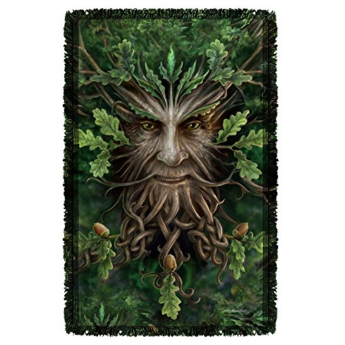 Anne Stokes Gothic Fantasy Art Fae Collection Oak Tree King Woven Throw White (Fae Art)