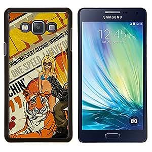 TECHCASE---Cubierta de la caja de protección para la piel dura ** Samsung Galaxy A7 ( A7000 ) ** --Arte pop de la vendimia