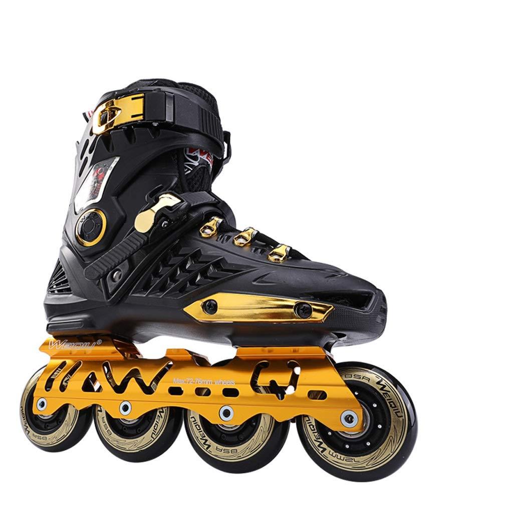 インラインスケート スケートスケート大人のインラインスケート、男性と女性のローラースケート初心者ローラースケートフラットフラワーローラースケート (色 : C, サイズ さいず : EU 35/US 4/UK 3/JP 22.5cm) C EU 35/US 4/UK 3/JP 22.5cm