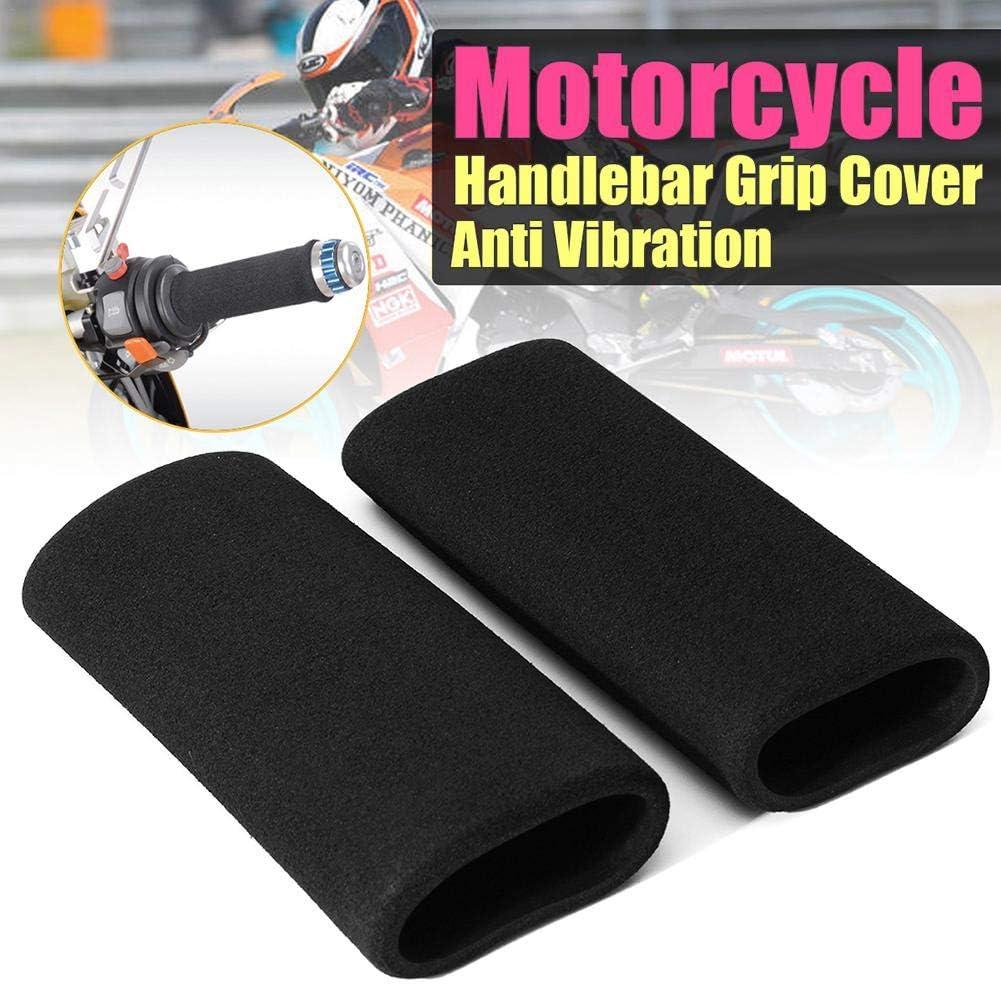 Hete-supply Moto Confort Grips couvertures Moto Universel /à Enfiler en Mousse Anti Vibration pour Moto Poign/ées en Mousse couvertures antid/érapant