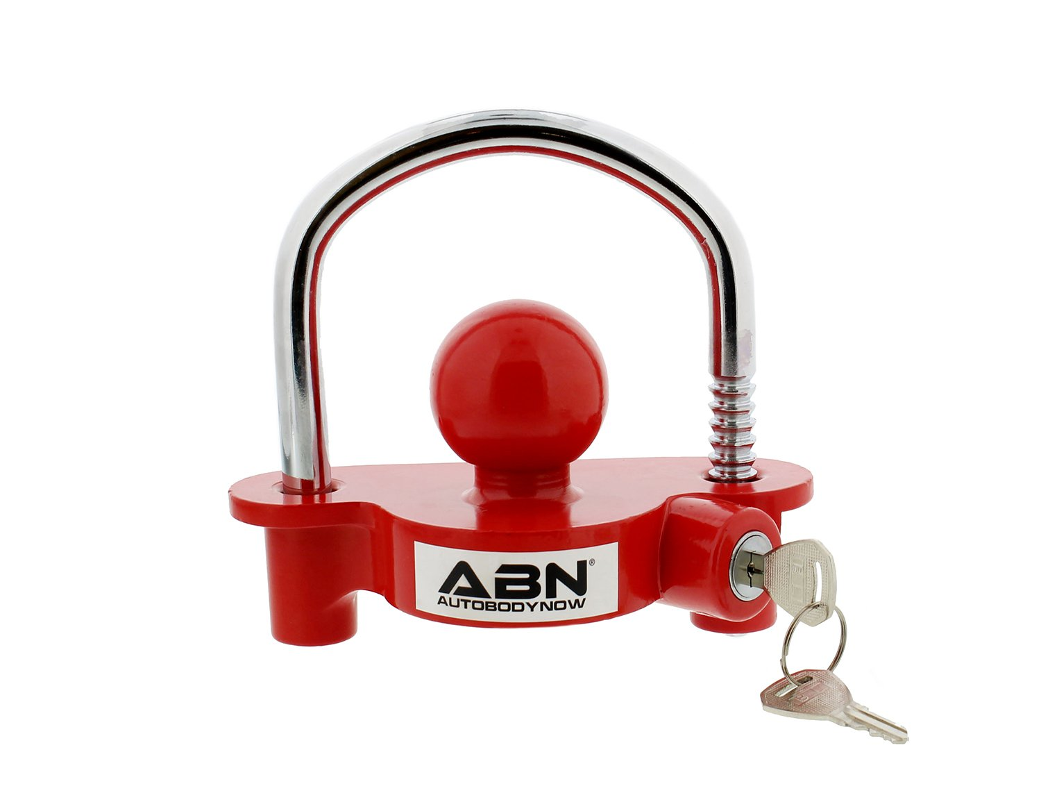ABN Trailer Hitch Lock - Universal Trailer Coupler Lock and Key, 2in in Trailer Ball Locks with 4in in Locking Hitch Pin by ABN