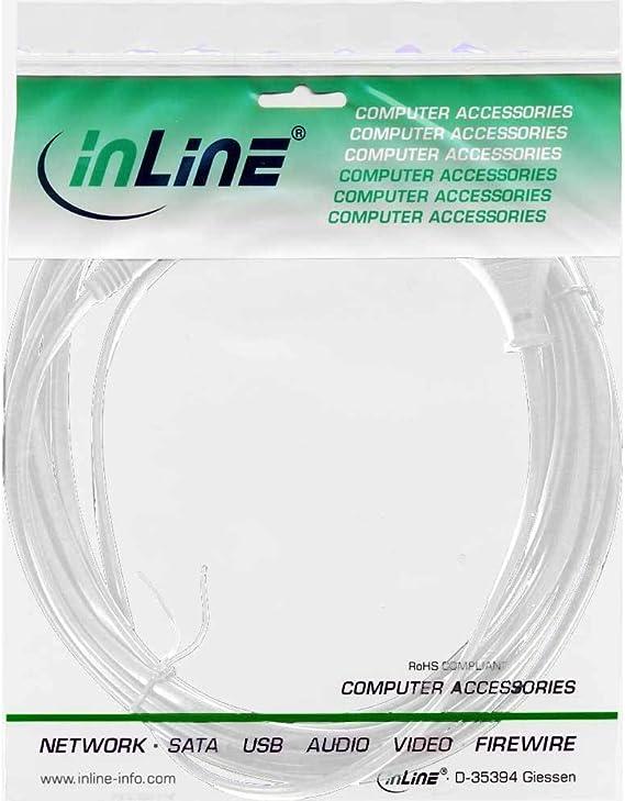 Inline 16601w Netzkabel Netzstecker Auf Euro 8 C7 Computer Zubehör
