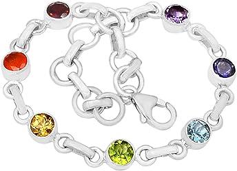 86b2a18ac Xtremegems 9.4g Healing Chakra 925 Sterling Silver Bracelet Jewelry 8