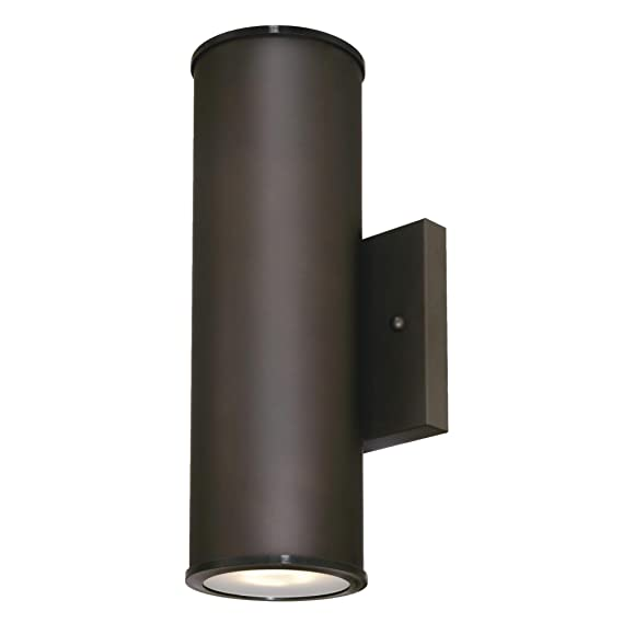 Westinghouse 6315700 Mayslick Two Light Led Up And Down Outdoor Wall Fixture With Frosted Glass Lens Oil Rubbed Bronze Com