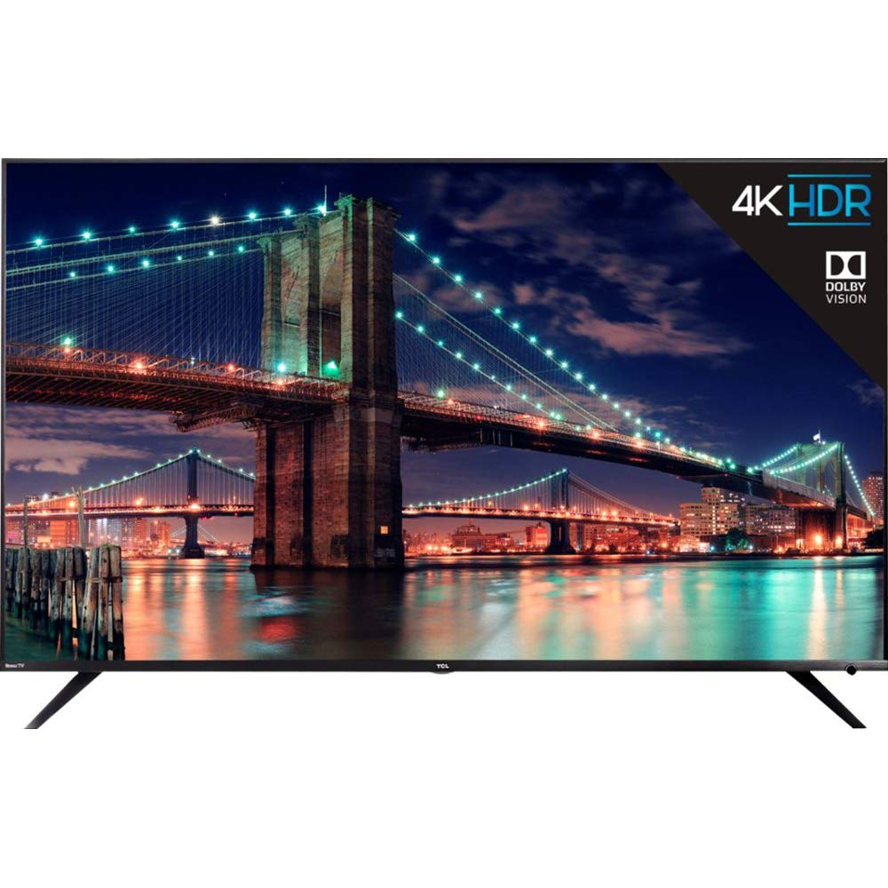 TCL 65R615 65-Inch 4K Ultra HD Roku Smart LED TV Dolby Vision HDR (2018 Model) by TCL