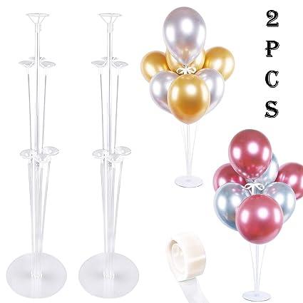 Amazon.com: Bestwin - Juego de 2 globos de mesa de altura de ...