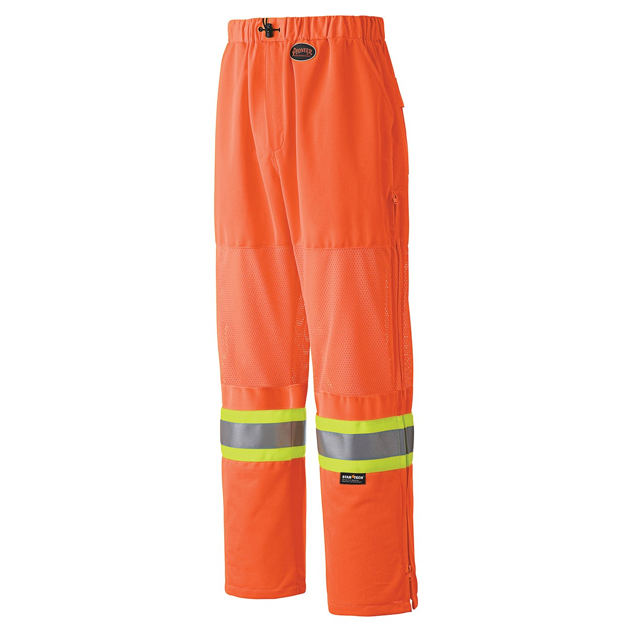 Pioneer V1070380-M Traffic Safety Work Pants - Easy Boot Access - 5 Pockets, Navy Blue, M