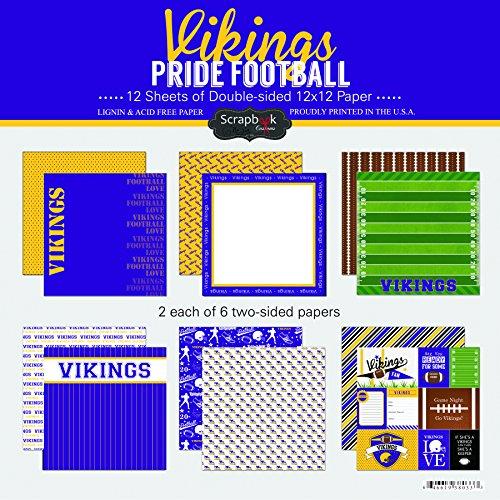 Scrapbook Customs Vikings Pride Football Scrapbook Kit
