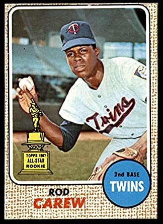 Amazoncom 1968 Topps 80 Rod Carew Minnesota Twins