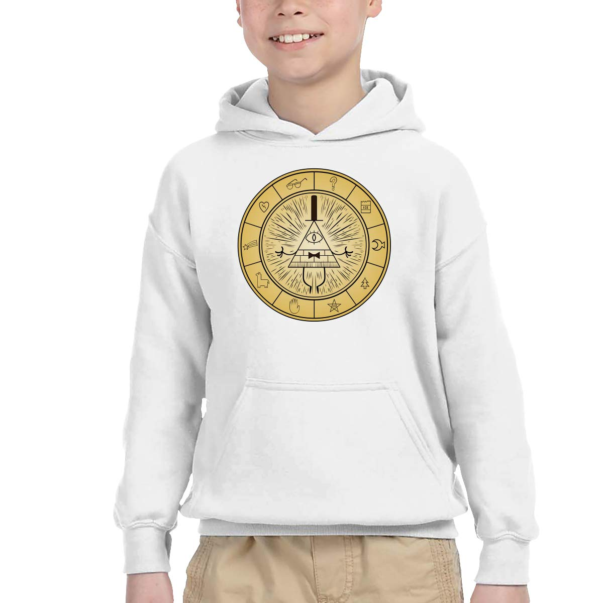 Gravity Falls Ped Hip Hop Pullover Hoodie Sweater with Kangaroo Pocket Hooded Sweatshirts