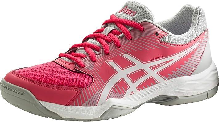 Asics Gel-Task, Botas de Fútbol para Mujer, Rojo (Rouge Red / White / Mid Grey), 41.5 EU: Amazon.es: Zapatos y complementos