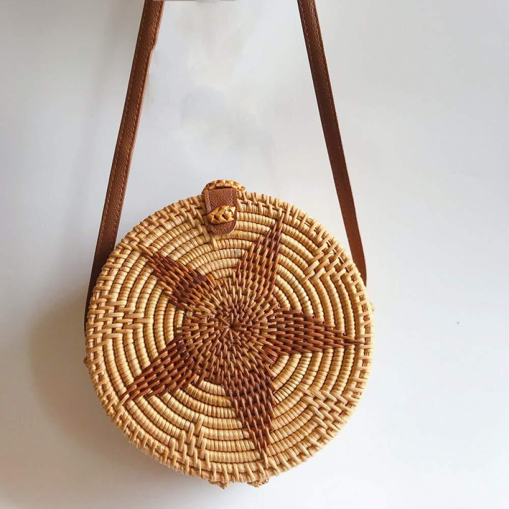 Ldyia Umhängetasche aus Rattan-Damenhandtasche für Damen handgefertigt Umhängetasche mit Retro-Kunst B07QKCXJV8 Ruckscke Internationale Wahl