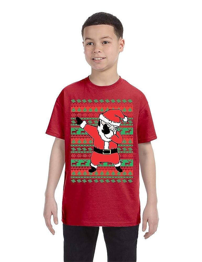 Allntrends Kids Youth T Shirt Dabbing Santa Trendy Ugly Xmas Tee Cool