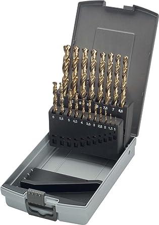 Keil 307 501 110 HSS-E DIN 338 - Juego de 19 brocas de cobalto para perforadora de metal en estuche RoseBox (rectificada, afilada en cruz, 1-10 mm): Amazon.es: Industria, empresas y ciencia