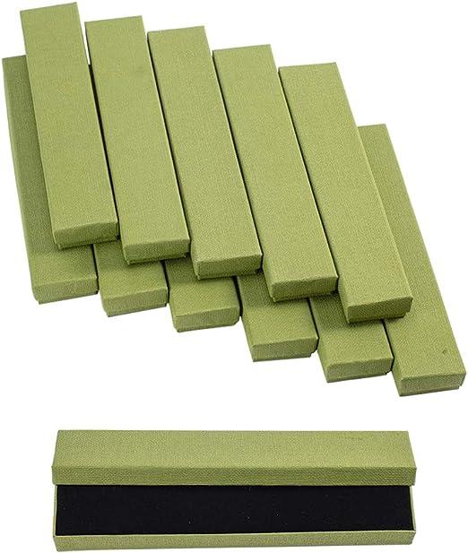 NBEADS Caja de Regalo de cartón para Pulseras, Collares, 21 x 4 x ...