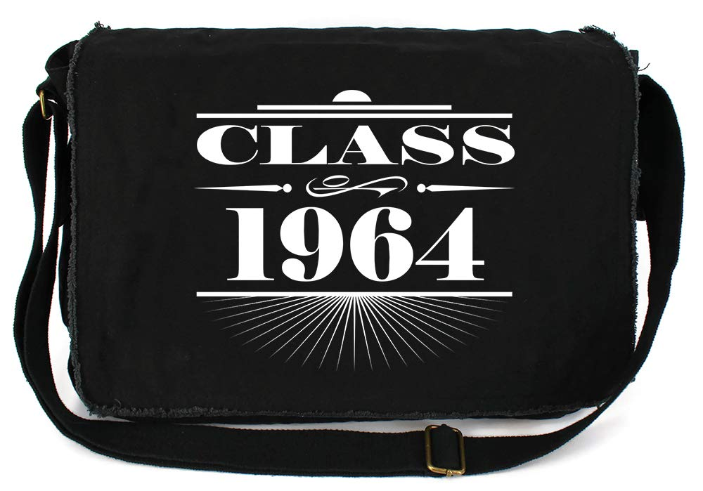 Tenacitee Art Deco Class of 1964 Navy Brushed Canvas Messenger Bag