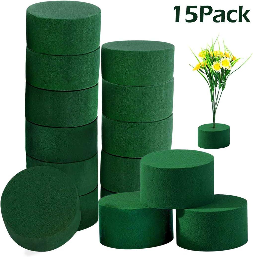 Lightweight Foam Block for Wedding Aisle Flowers DIY Flower Arrangement Kit Green Round Wet Floral Foam Party Decoration