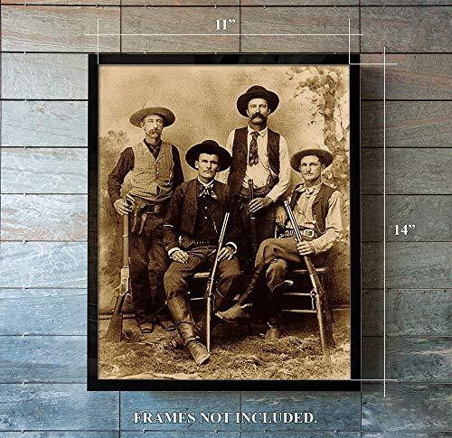 The James Gang - Unframed 11 x 14 Print - Photo Print Of Jessie James, Frank James, The Deacon & Ranger Captian