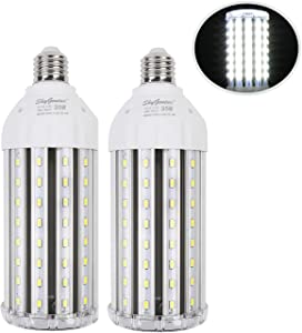 35W Super Bright LED Corn Light Bulb for Garage, E26 High Output 3500Lm 6500K Daylight LED Corn Bulb 300 Watt Equivalent, for Backyard Basement Barn Workshop Outdoor Large Area(2 Pack)