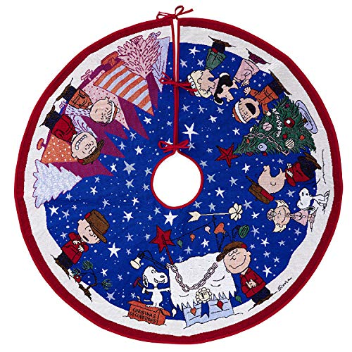 Hallmark Keepsake Ornament 2019 Year Dated Peanuts Christmas Light, Charlie Brown Tree Skirt