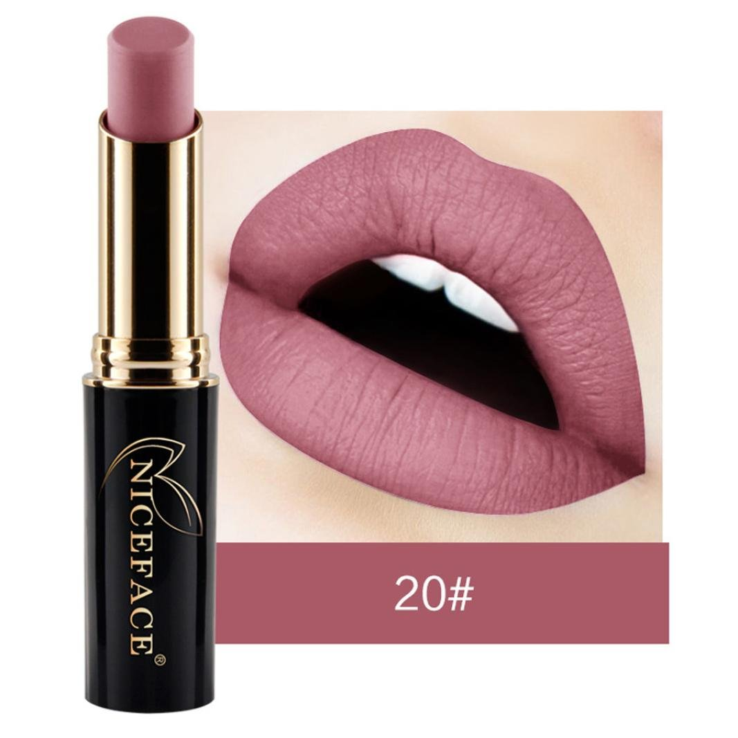 24 Colors Waterproof Long Lasting Durable Matte Liquid Lipstick Beauty Lip Gloss (20#)