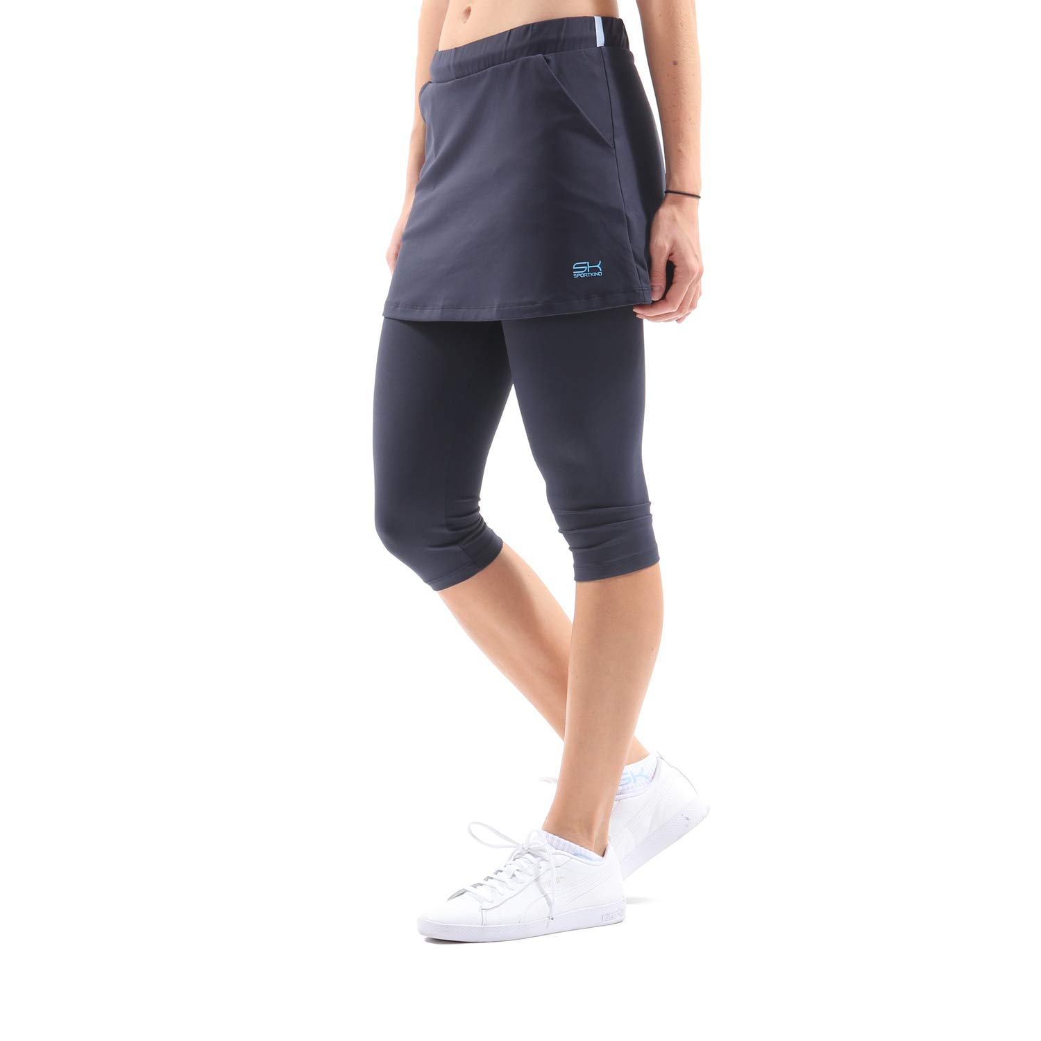 Sportkind Mädchen & Damen Tennis/Hockey/Running 2-in-1 Rock mit Leggings