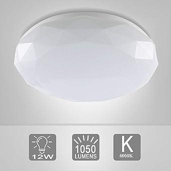 LED Deckenleuchte Sternenhimmel, 12W, Wasserfest, Diamant-Design ...
