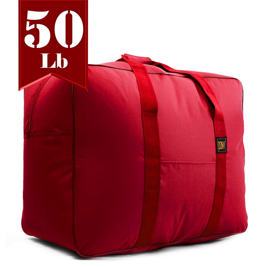 Travel Duffle Bag Bolsa Maleta de Lona 50 Lb Capacity Luggage Tote (Red)